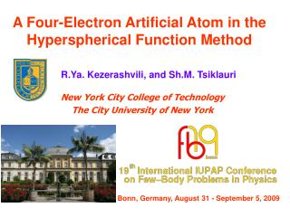 A Four-Electron Artificial Atom in the Hyperspherical Function Method