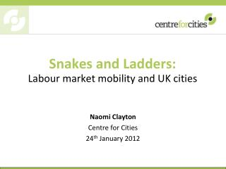 Snakes and Ladders:  Labour market mobility and UK cities