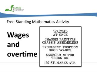 Wages and overtime