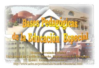 bases pedag gicas de la educaci n  especial