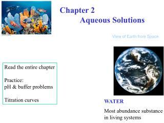 Chapter 2           Aqueous Solutions