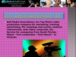 south florida video production service