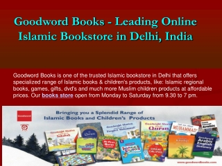 Select Premium Online Islamic Books Store in Delhi