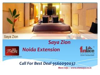 Saya Zion Noida Extension 9560090037