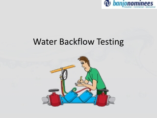 Perfect Water Backflow Testing