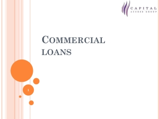 Commercial Loan For Business