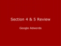 Section 4  5 Review