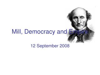 Mill, Democracy and Empire