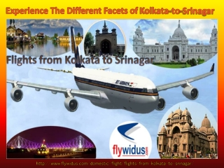 Flights From Kolkata To Srinagar - Made To Make Your Air Tra