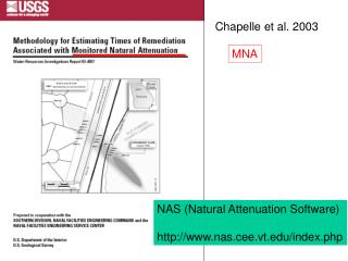 NAS Natural Attenuation Software  nas.cee.vt