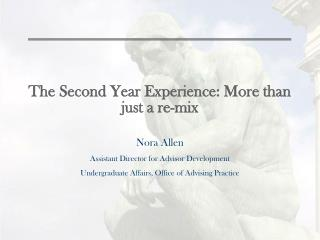 The Second Year Experience: More than just a re-mix