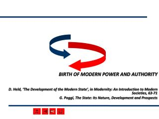 BIRTH OF MODERN POWER AND AUTHORITY   D. Held,  The Development of the Modern State , in Modernity: An Introduction to M