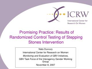 Promising Practice: Results of Randomized Control Testing of Stepping Stones Intervention