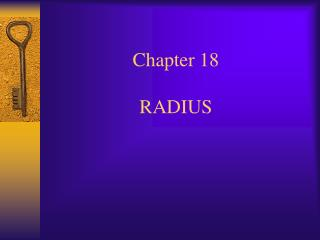 Chapter 18   RADIUS