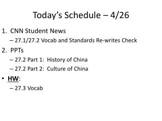 Today s Schedule   4