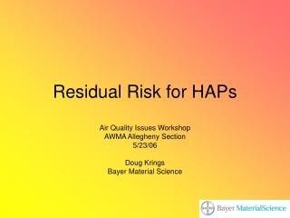 Residual Risk for HAPs