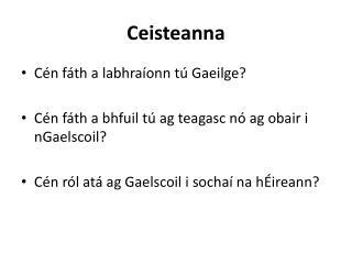 Ceisteanna