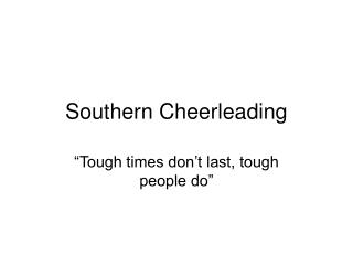 Southern Cheerleading