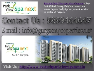Bestech Park View Spa Next Gurgaon