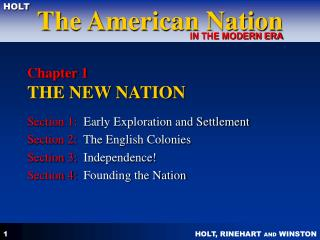 Chapter 1 THE NEW NATION