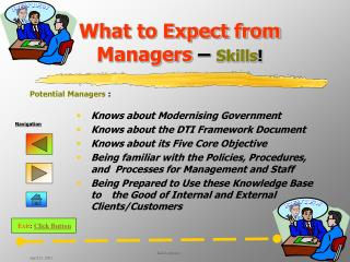 What to Expect from Managers   Skills