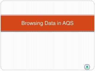 Browsing Data in AQS