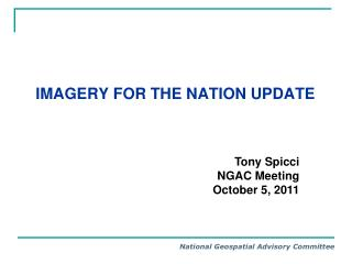 Imagery for the Nation Update