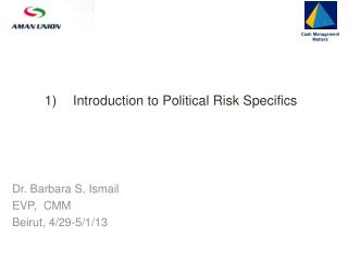 Introduction to Political Risk Specifics