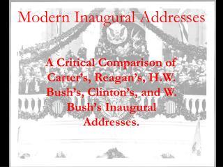 Modern Inaugural Addresses