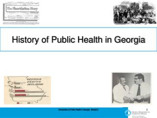 Introduction to Public Health in Georgia:  Module 2