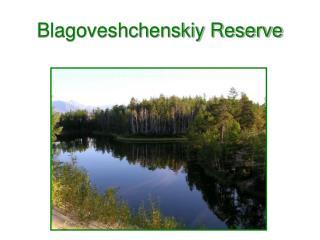 Blagoveshchenskiy Reserve