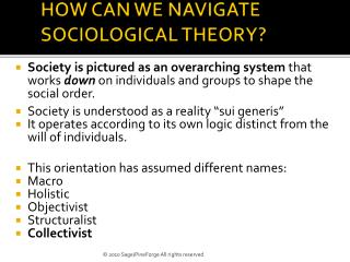 HOW CAN WE NAVIGATE SOCIOLOGICAL THEORY