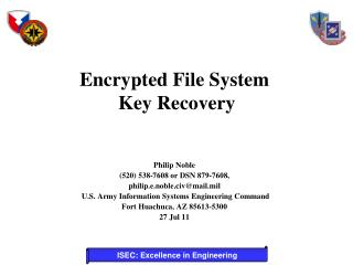 Encrypted File System  Key Recovery