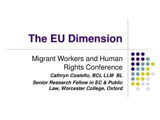 The EU Dimension