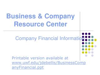 Business  Company Resource Center