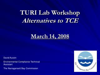 TURI Lab Workshop Alternatives to TCE  March 14, 2008