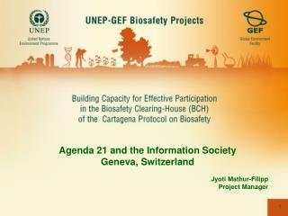 Agenda 21 and the Information Society Geneva, Switzerland