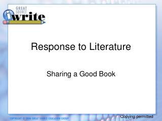 Response to Literature