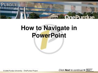How to Navigate in PowerPoint