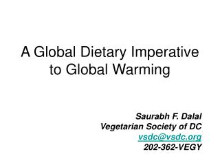 Global Warming PowerPoint by Saurabh Dalal