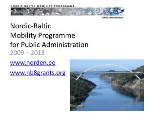 Nordic-Baltic  Mobility Programme  for Public Administration