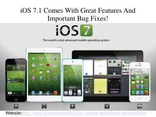 IOS 7.1 comes with great features and important bug fixes!