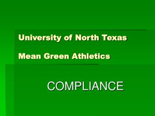 University of North Texas  Mean Green Athletics