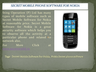 Secret Mobile Phone Software