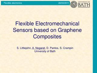 Flexible Electromechanical Sensors based on Graphene Composites