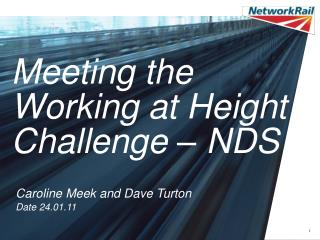 Meeting the Working at Height Challenge   NDS