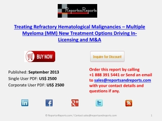 Treating Refractory Hematological Malignancies Therapeutic I