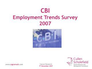 CBI Employment Trends Survey 2007
