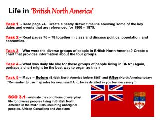 Life in  British North America