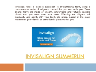 Invisalign Cost Summerlin